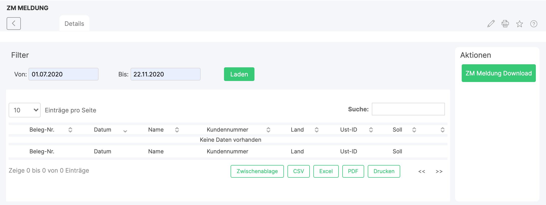 ZM Meldung – Xentral ERP Software GmbH